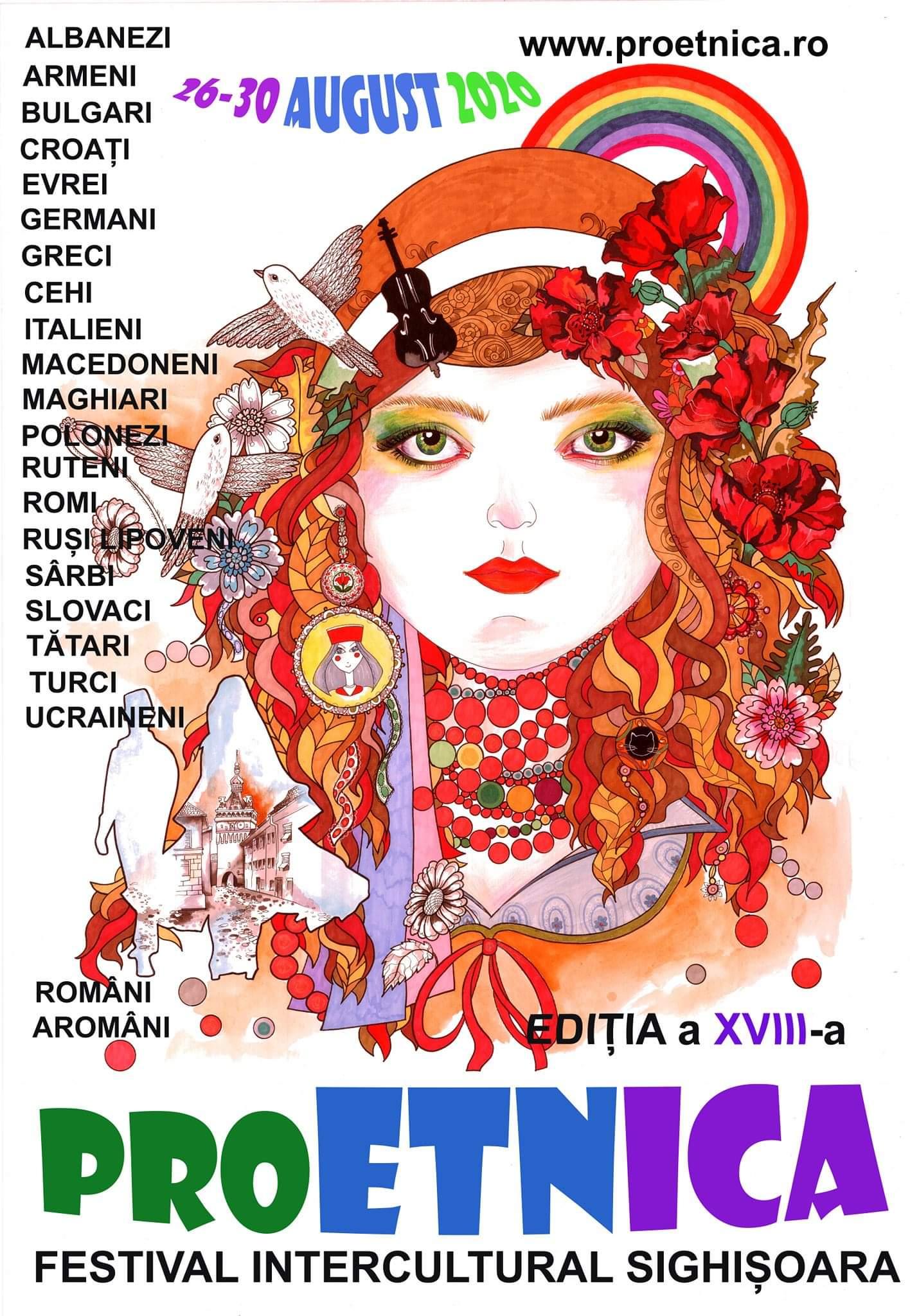 Afișul oficial al festivalului Pro Etnica 2020